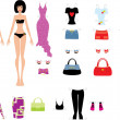 Royalty-Free Stock Vector Image: Paper dolls with clothes