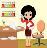 Pretty girl - business woman — Stock Vector