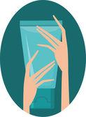 Cream for hands — Stock Vector