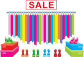 Clothes and footwear sale — Stock Vector