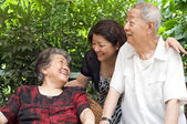 A happy family — Stock Photo