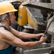 Hardworking laborer — Stock Photo