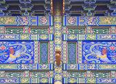 Çin trditional renkli süslemeleri kapısı — Stok fotoğraf
