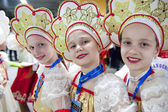 Russian little girls — Stock Photo