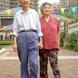 Walking senior couple — Stock Photo #7524644