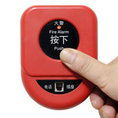 Press fire alarm button — Stock Photo