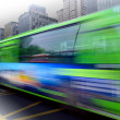 High speed and blurred bus — Zdjęcie stockowe