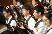 Bassoon boy on concert — Stock Photo