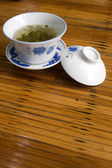 Chinese teacup on the table — Стоковое фото