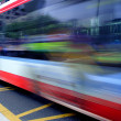 High speed and blurred bus — Stock Photo
