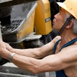 Stock Photo: Hardworking laborer