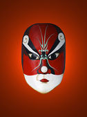 Mask of chinese opera with red isolated background — Stock Photo