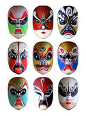 Collection of the best chinese traditional opera facial painting — Stock Photo