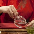 Chinese traditional tea ceremony — Stock Photo