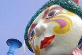 Clown statue in an amusement park — Stock Photo