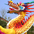 Chinese traditional colorful dragon lantern show — Foto Stock