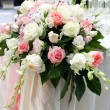Stock Photo: Beautiful rose flower on the wedding.