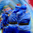 Chinese traditional wave blurred blue dragon — Stock Photo