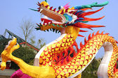 Chinese traditional colorful dragon lantern show — Stock Photo