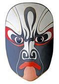 Pittura facciale opera tradizionale cinese con ba isolato bianco — Foto Stock