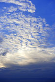 Cloud layer and blue sky — Stock Photo