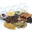 Colorful herbs and nuts — Stock Photo