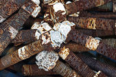 A bundle of rusty stud bolt & nut — Stock Photo