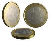 One EURO coin on white background — Stock Photo