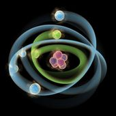 Planetary model of atom — Stock Photo