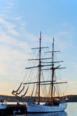 Tall Ship at dawn — Stock Photo
