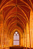 Arched ceiling of church — Stock Photo