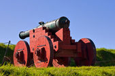 Antique cannon in grounds of Akershus Fortress — Stock Photo