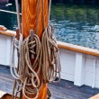 Ropes on  tallship mast - Stock Photo