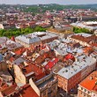 Above view City Hall on Lviv Ukraine — Stockfoto