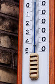 Outdoor thermometer closeup — Stock Photo