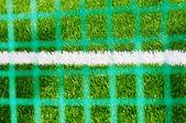 Maglia della linea bianca sul campo di calcio con sfocata — Foto Stock