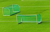 Fußballtoren auf fußballplatz — Stockfoto