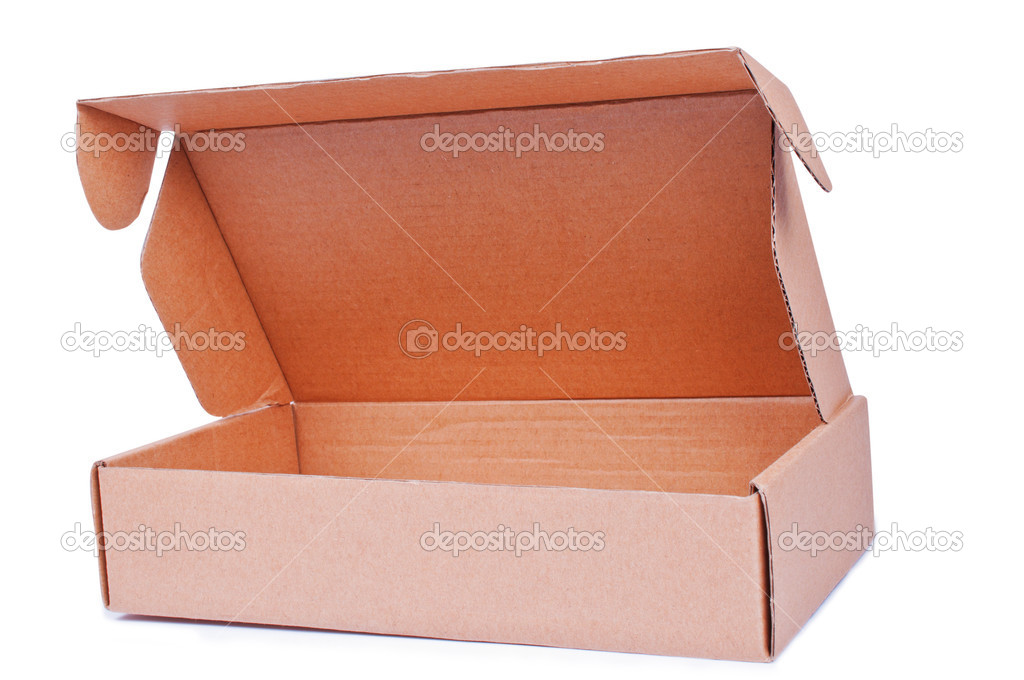 Open corrugated Box on a isolated background — Stock Photo #7927477