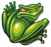 Evil frog — Stock Vector