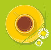 Yellow cup — Stock Vector
