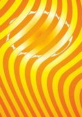 Orange striped background — Stock Vector