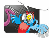 Frightened parrot — Stock Vector