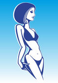 Girl in a swimsuit — Stock Vector