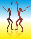 Dancing men — Stock Vector