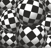 Checkerboard background balls — Stock Vector