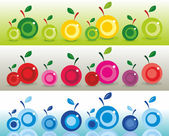 Colorful apples — Stock Vector