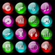 Audio icons — Stock Vector