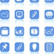 Office icons — Stock Vector #7700515