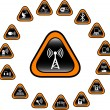 Wireless icons - Stock Vector