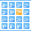 Wireless icons — Stock Vector #7714693
